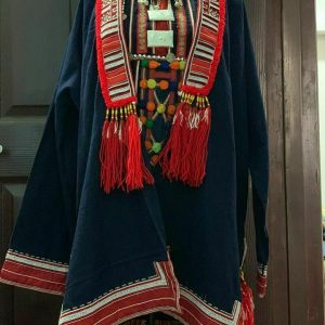 Women Hmong Ethnic Jacket Coat Loose Vintage Cardigan Outwear decor home