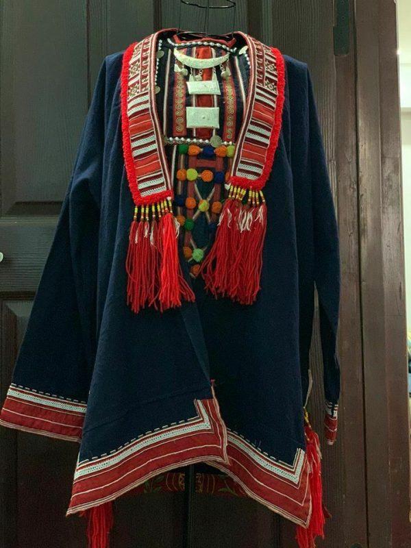 Women Hmong Ethnic Jacket Coat Loose Vintage Cardigan Outwear decor home