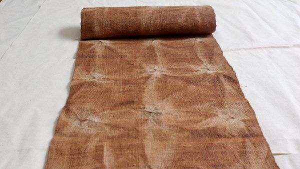 Vintage Abstract hemp fabric