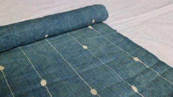 Vintage Hmong batik hemp fabric