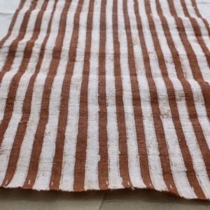 Stripe hemp fabric with brown batik of Hmong by yard and wholesale