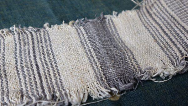 stripe hemp fabric handwoven vintage nature textile by yard & wholesale
